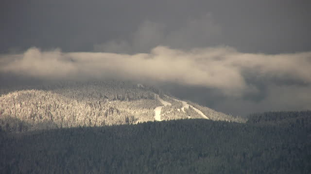 Distant ski-hill. Cypress Mountain. video