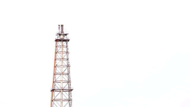 Distillation tower of Oil Refinery Plant video