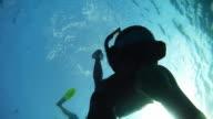HD SLOW-MOTION: Diver Point Of Descending video