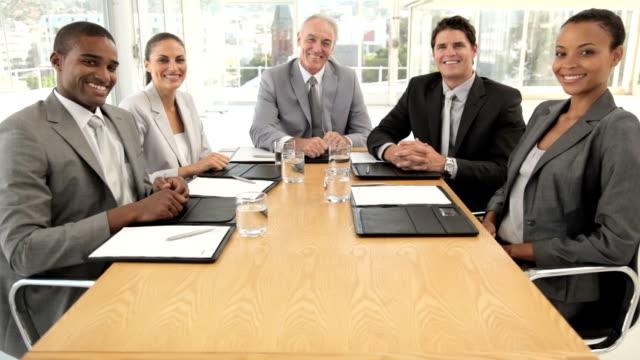 Diverse Business Group Portrait video
