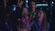 Diverse friends partying in nightclub video