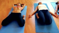 Diverse Mixed Race Yoga Class. Wellness and Healthy Lifestyle. video