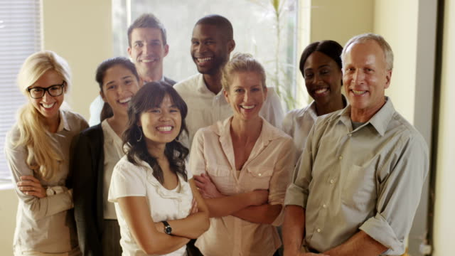 Diverse multiethnic group of business people video