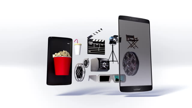 Divided smart phone, Explain various movie, drama, download internet service video