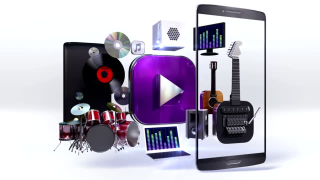 Divided smart phone, mobile, Explain various music download, listen internet. video