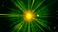 Divine Rays Green Loopable Background video