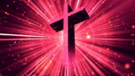 Divine Worship Cross Red Loopable Background video