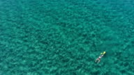Diving in a beautiful turquoise water video