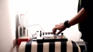 Dj mixer. Close up video