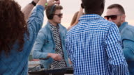 Dj Mixing Music for Friends on Rooftop video