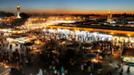Djemaa el fna in the evening video
