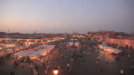 Djemaa el Fna. Marrakech sunset video HD video