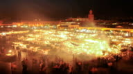 Djemaa El Fna time lapse, Marrakech, Morocco video