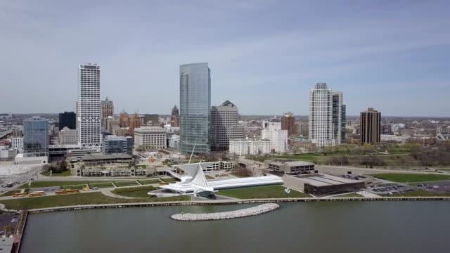 D-Log: Milwaukee Skyline Aerial Footage video