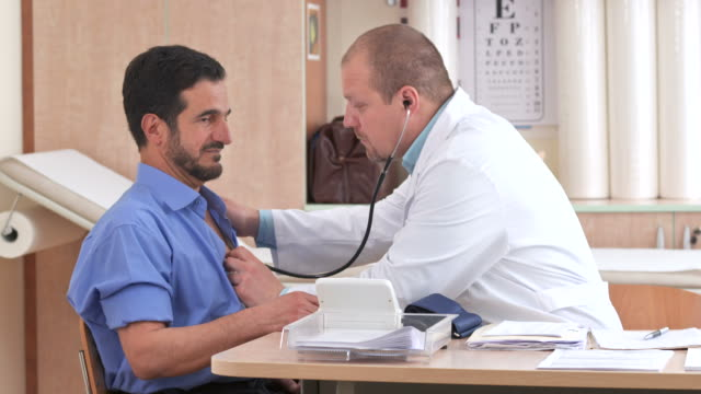 HD: Doctor Checking A Patient's Heartbeat video