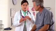 Doctor explaining heart condition to patient video