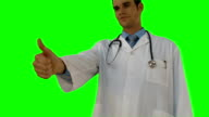 Doctor gesturing thumbs up video