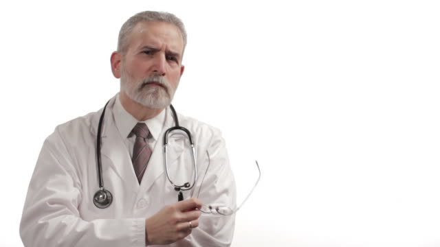 Doctor on white background video