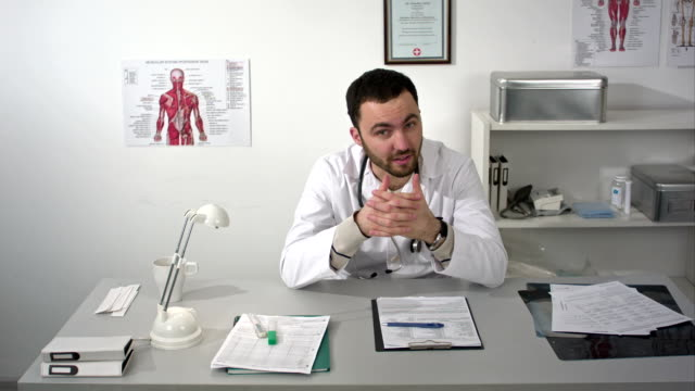Doctor or medic asking for money and bribe with gesture video