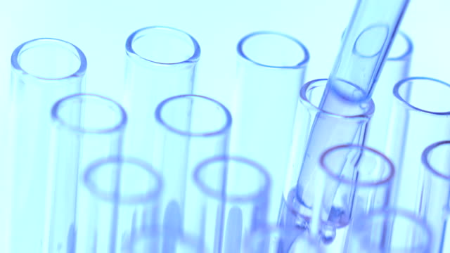 Doctor or scientist testing DNA research in laboratory video