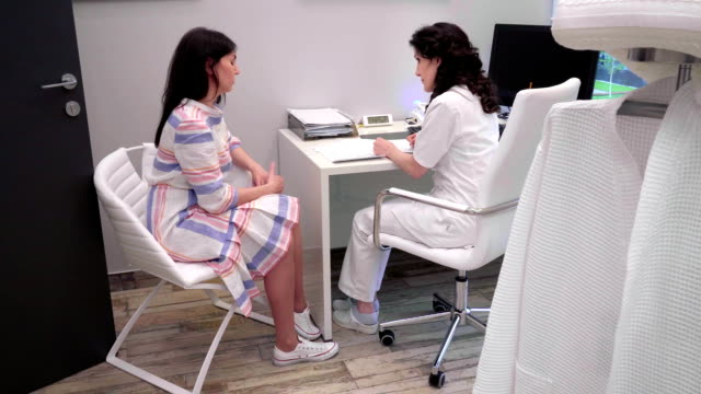 doctor talking to a patient video