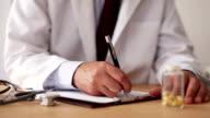 Doctor Writing Prescription video