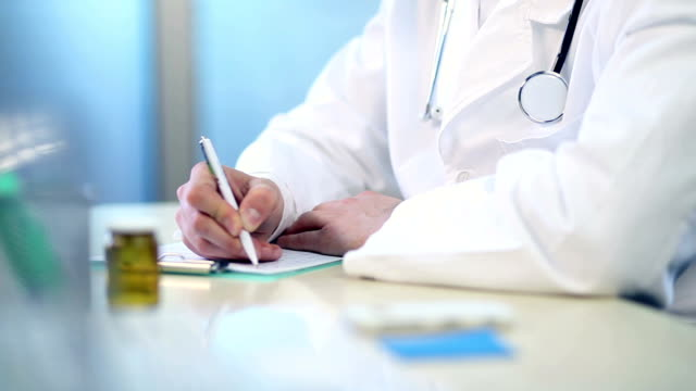 Doctor writing video