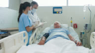 Doctors checking on patient at the ICU video