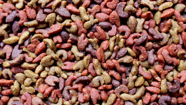dog food and cat food background rotation video