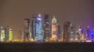 Doha at night video