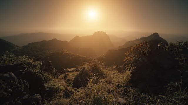 Doi Luang Chiang Dao mountain at sunrise video