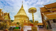 Doi Suthep Temple Time lapse in Chiang mai Thailand. video
