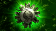 Dollar Abstract Sun #b Particles Animation - HD1080 video