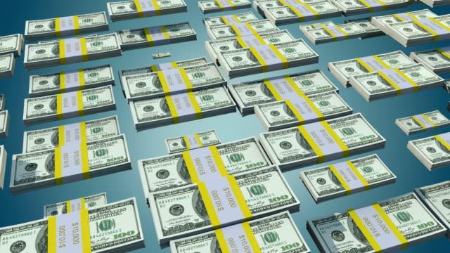 Dollar Bill Bars Bouncing Animation video