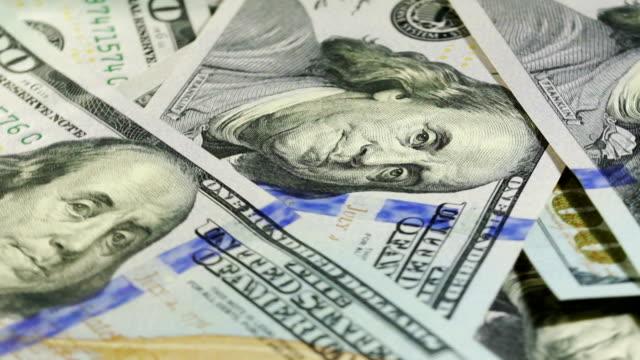 Dollar bill rotating video