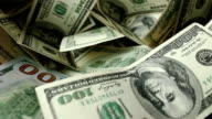Dollar bills and coins video
