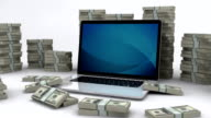 Dollar bills and laptop | Making money online video