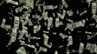 4K Dollar Bills Falling | Loopable video