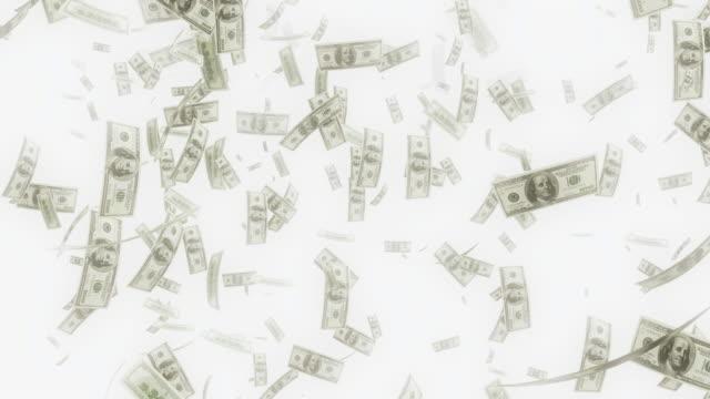 4K Dollar Bills Falling   Loopable video