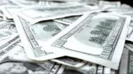 Dollar Bills Rotating video
