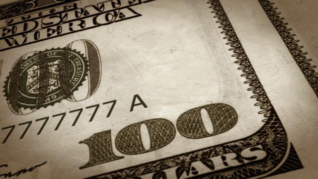 Dollar bills video