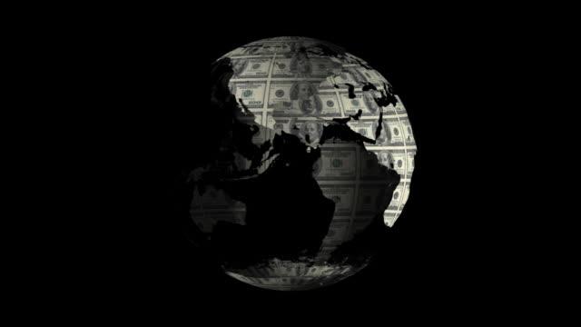 Dollar Globe Loopable video