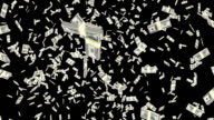 Dollar money falling, loop-able. video