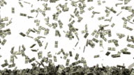 HD : Dollar money falling. video