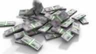 Dollar pile video