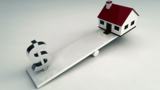 Dollar sign and house on see saw video