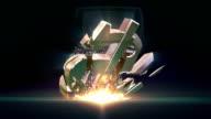 HD: Dollar symbol destruction video