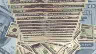 Dollars fall. 3d animation video