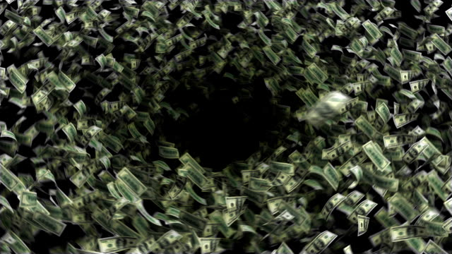 Dollars fall to black hole video