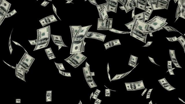 US Dollars Falling, Luma Matte video